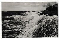 Ansichtskarte Norderney - Strand bei Sturm - Verlag Stengel - schwarz/weiß