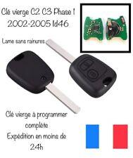 Clé Vierge + Transpondeur Id46 citroen C2 C3 1 Phase 1 C3 pluriel 2002 à 2005