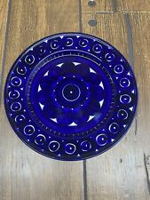 """1 Arabia of Finland 1960's hand painted VALENCIA blue 10"""" dinner plate"""
