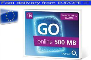 O2 Czech Republic prepaid SIM card With Credit 150 CZK, 500MB data