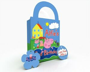 Personalised George Childrens Party Bag Gift Favour Box Treat Bag
