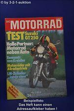 Das Motorrad 24/73 Suzuki GT 250 Kreidler Rennsatz