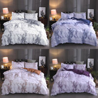 Marble Comforter Cover Pillowcase Bedding 3Pcs Set Quilt Cover Queen King Size