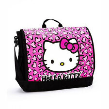 Sanrio Hello Kitty Pink Leopard Messenger School Book Bag Backpack Maleta Bolsa