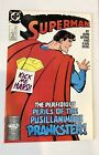 SUPERMAN #16 Prankster, Comic Book John Byrne, Kesel, 1988 DC FREE SHIPPING
