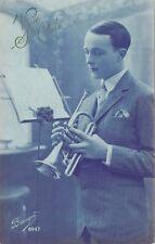 Cornet Player * Vive Ste. Cecile   Branger #6947  ca. 1910   Trumpet Musician