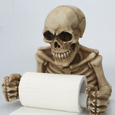 DIY Skull Toilet Paper Towel Roll Holder Wall Mount Skeleton Bathroom Decoration