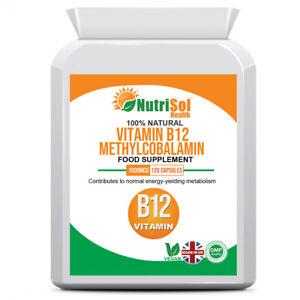 Vitamin B12 1000mcg 1mg 120 Capsules Immune System Support, Tiredness, Fatigue
