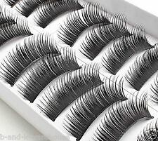 10 Pairs Eyelashes Black Thick Natural Fake Eye Lashes False Eye Lashes #0023