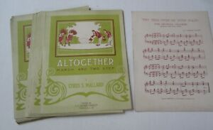 Wholesale Lot of 25 Old 1910 ALTOGETHER March - Sheet Music Thomasville GEORGIA