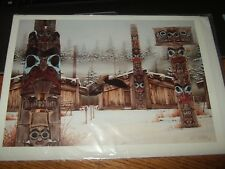 """WARREN THOMAS COOKE """"THE VISITOR""""  LARGE GREETING CARD unused new artwork"""