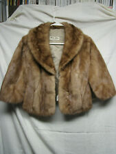 Emba Pastel Natural Brown Mink Fur Stole lot S1
