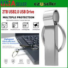 USB 2.0 2TB Metal Flash Pen Drive Memory Storage Stick High Speed U Disk US Ship