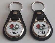 1967 CHEVY 2 PACK OF KEYCHAINS Chevrolet Bel Air, Biscayne, Caprice IMPALA FOB