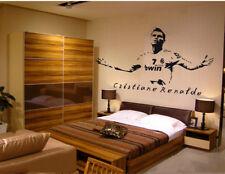 Football Star Cristinano Ronaldo Wall Sticker Sports Decal Boys Bedroom Decor