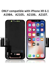 iPhone XR 6.1 inch All-screen LCD Display Digitizer Screen with Glass Lens Rep