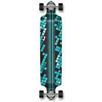 Yocaher Drop Down Black Digital Wave Longboard Complete