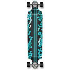 Black Digital Wave Graphic Drop Down Complete Longboard Professional skateboard