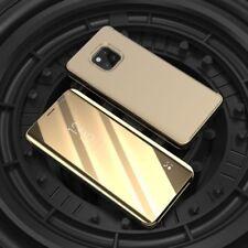 Para Samsung Galaxy A9 A920F Transparente Ver Smart Funda Oro Wake Up Nuevo