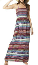 Sizes 10 - 24 Ladies Long Maxi Aztec Stretchy Dress Full Length 14