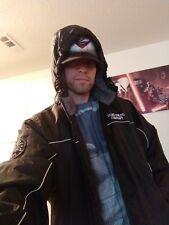 Marc Ecko unlimited Lg Mens Black Coat Hoodie Jacket Gently Used