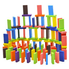 120Pcs/Set Mix 10 Colors Wooden Kids Children Domino Game Play Toys Gift Fun