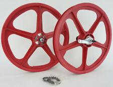 """Skyway BMX 20"""" Tuff Wheels RED Coaster Brake retro NEW wheelset 3/8"""" axles"""