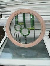 New Green Rennie Mackintosh Design Glazed Hardwood Round Window 595mm Diameter