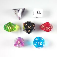 Poly 7 Dice RPG Set Mixed Random Pathfinder 5e Dungeons Dragons D&D Role Play DM