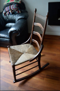 Antique Shaker style, 2 Ladder backed 19th century rocking chair