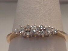 14 Carat Multi-Tone Gold Round Fine Gemstone Rings