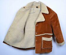 Vtg 70s William Barry Men's Sz 44 Sherpa Lined Rancher Brown Corduroy Jacket