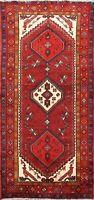 Geometric Hand-knotted Hamedan Area Rug Nomad Oriental Wool Kitchen Carpet 3'x6'