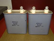 Pair, Sprague 330P23 Oil Tube Amp Capacitors 10 MFD, 450 VDC