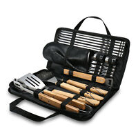 BBQ Grill Tool Set Spatula Tongs Brush Grilling Kit for Camping Kitchen Utensil