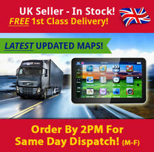"7"" Truck Sat Nav UPDATED UK & Europe Maps POIs Laybys, Keyfuels, HGV, Lorry"