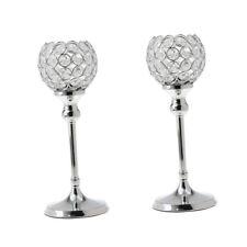 2 stk. Kristall Kerzehalter Teelichthalter Kerzenständer Hochzeit Deko