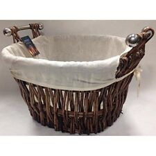 Manor Fireside Quality Bampton Fireplace Willow Log Carrying Basket W/Liner