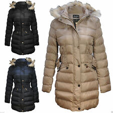 Women's No Pattern Polyester Quilted Outdoor Coats & Jackets