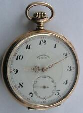 VINTAGE ETERNA OPEN FACE SILVER 0.800 MEN'S POCKET WATCH SWISS MADE 1930's