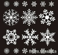 74 REUSABLE WHITE CHRISTMAS SNOWFLAKE WINDOW STICKERS DECORATIONS CLING DECAL