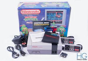 Nintendo Entertainment System NES Ninja Turtles Console Bundle Boxed! PAL