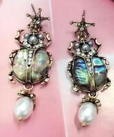 Fashion Multi-color  Crystal Ancient Gold Long Ear Stud Hoop tassels earrings