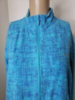 Reebok Women's Full Zip Activewear Jacket Size XL Blue Purple