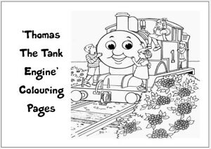 THOMAS TANK Colouring Pages - 20 Sheets - Perfect for Rainy Days & Holidays!