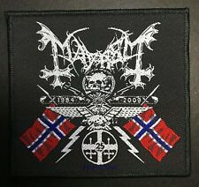 Mayhem 25 Years Coat Of Arms Black Metal Woven Sew-On Patch New