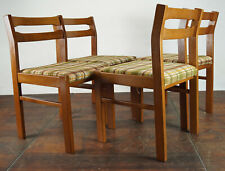 60er 4x Vintage Chairs Danish Retro Dining Room Chair Beech Armchair