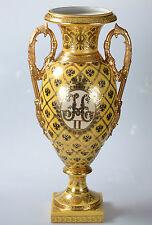 RUSSLAND PORZELLAN VASE SAMMLER GOLD DECO NIKOLAUS II HÖHE 54 cm !!!