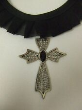 Gothic Choker ~ Cross Necklace ~ Vampire ~ Witch ~ Halloween Jewellery