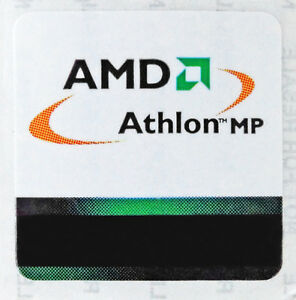 AMD Athlon MP Sticker 25 x 25mm Case Badge Logo Label USA Seller